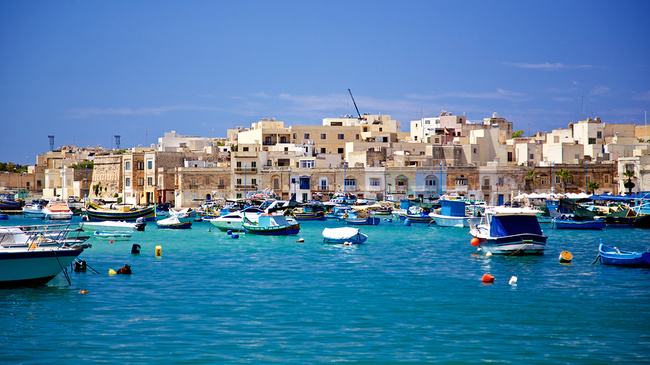 maltesisches fischerdorf